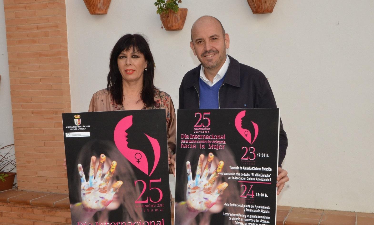 Cártama conmemorá el Día contra la violencia contra las mujeres con una agenda de actividades