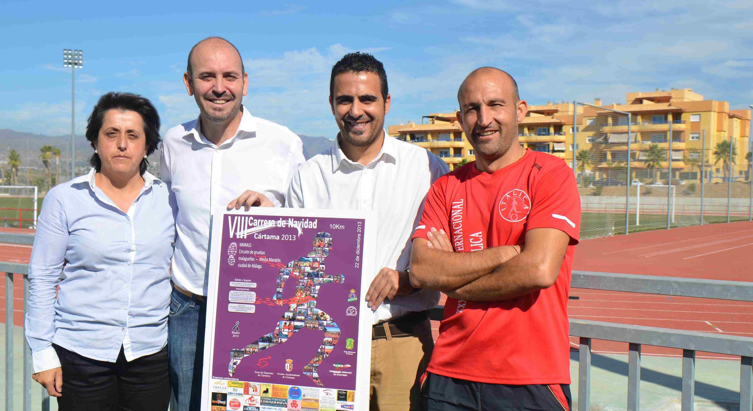 Cártama espera superar los 700 corredores en la octava Carrera de Navidad