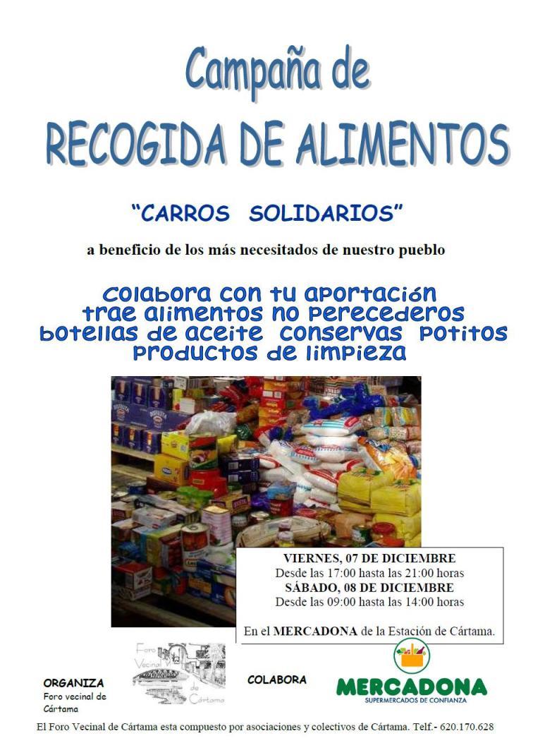 Nueva fecha de recogida de alimentos del Foro Vecinal de Cártama