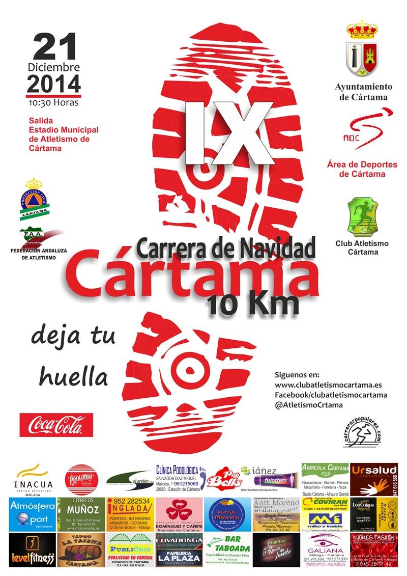 Cártama celebrará su IX Carrera de Navidad el 21 de diciembre con especial atención a la integración