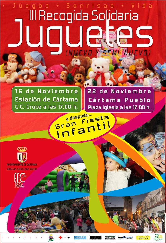 La recogida de juguetes sacará el lado más solidario de los cartameños por tercer año consecutivo