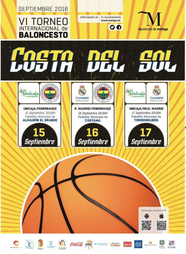 Cártama acogerá uno de los encuentros del VI Torneo Internacional de Baloncesto Costa del Sol