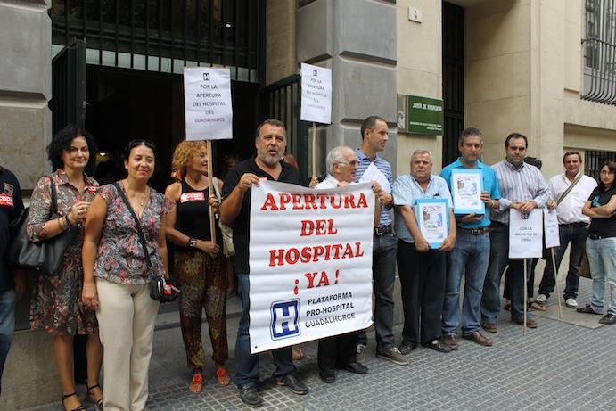 La Plataforma Pro-Hospital del Guadalhorce lleva mañana sus protestas a las puertas del centro