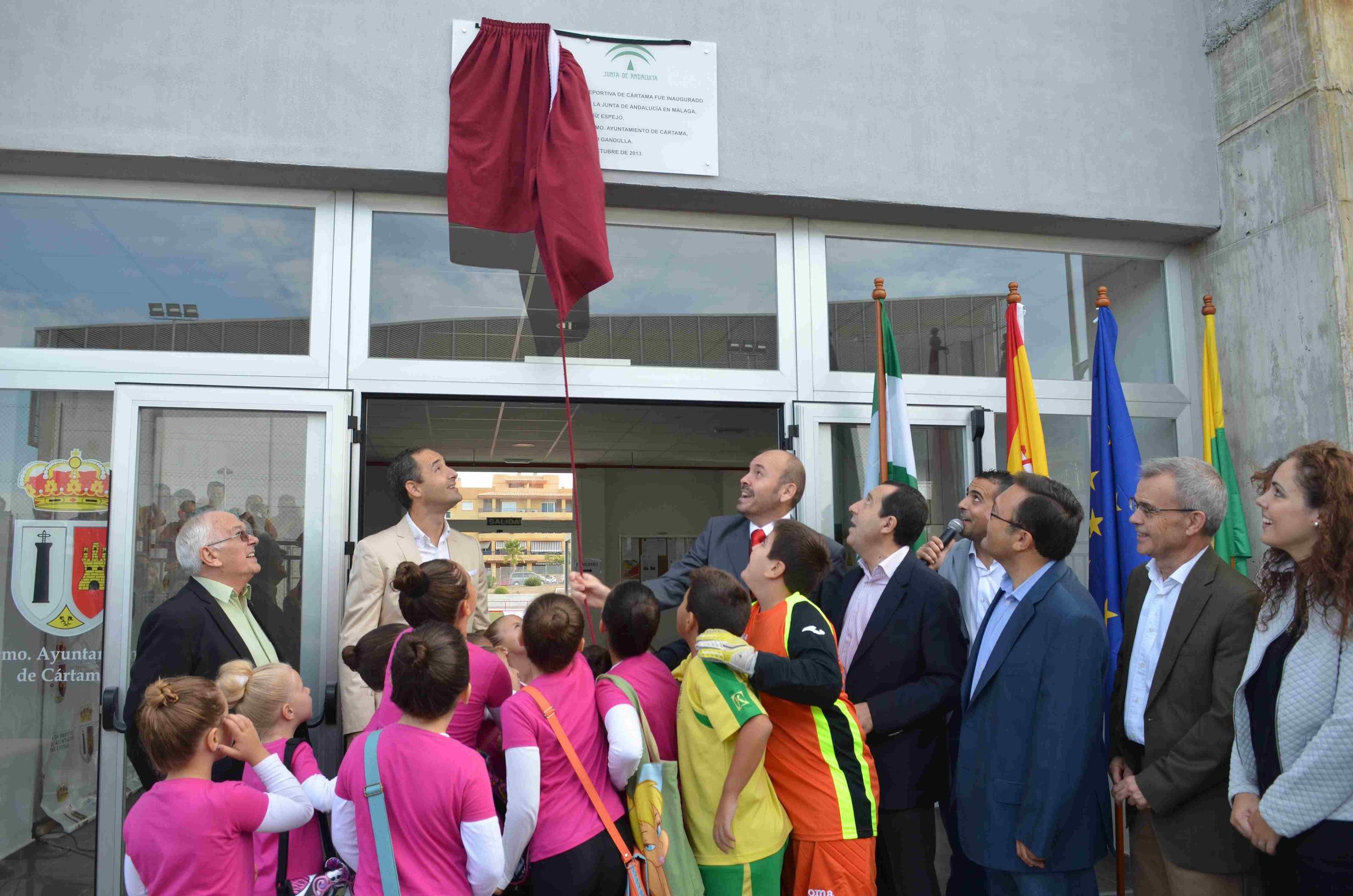 Cártama inaugura el estadio de la Ciudad Deportiva con una gran fiesta del deporte