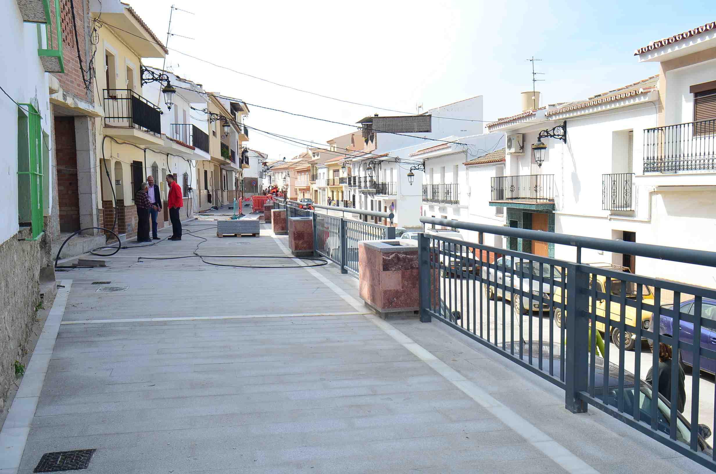 La primera fase de la remodelación de la calle Concepción llega a su recta final