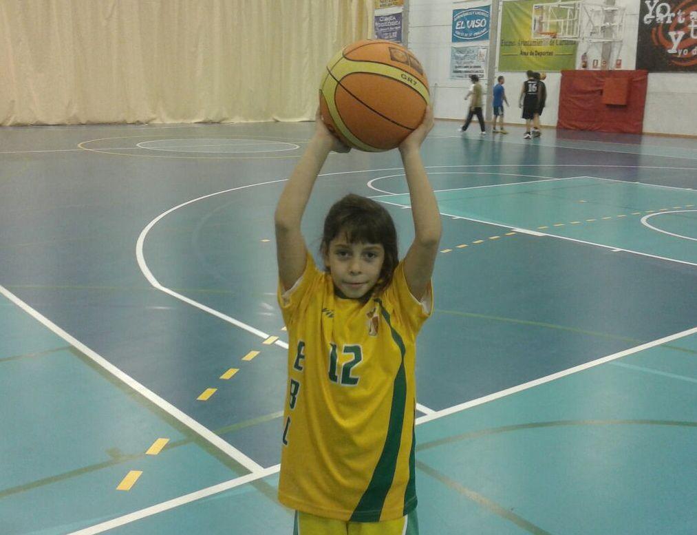 Paula Hijano, de la Escuela de Baloncesto, a la Selección Provincial Preminibasket Femenina