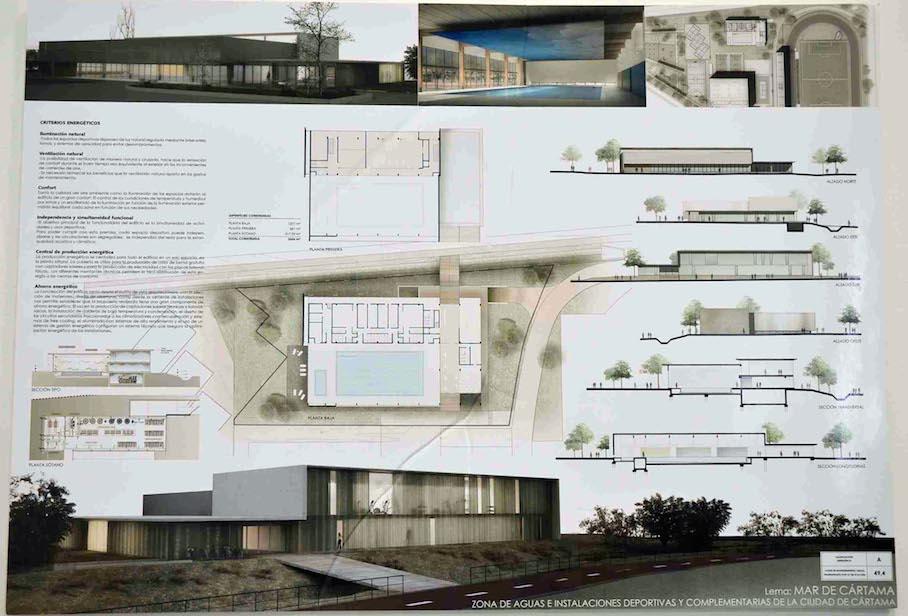 La empresa catalana D'Aura Arquitectura redactará el proyecto del complejo de aguas de la Ciudad Deportiva